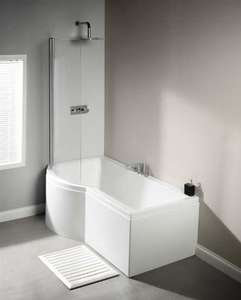 LH Carron Urban 1700 mm Whirlpool Shower Bath