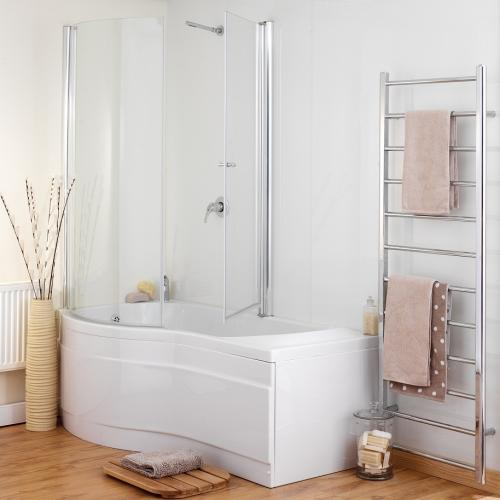 LH Prado 6 Jet Shower Bath - Plain Screen x 2 Room Shot