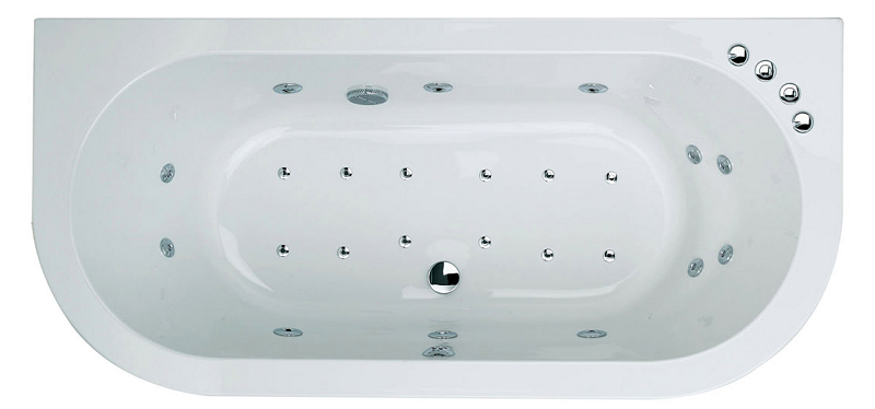 Trojan Decadence 24 Jet Double Ended Whirlpool Spa Bath