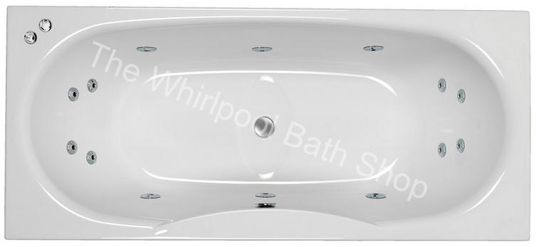 Carron Equation 1800 mm 14 Jet Whirlpool Bath