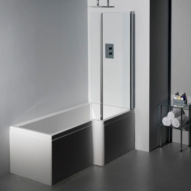 RH Carron 1700 mm Quantum L Shape Whirlpool Shower Bath