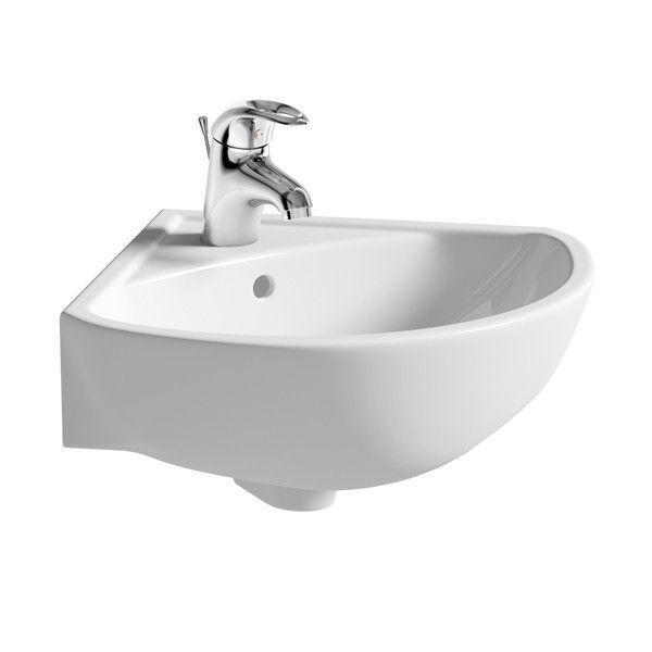 Moods Naples 1 Tap Hole Corner Basin 450mm