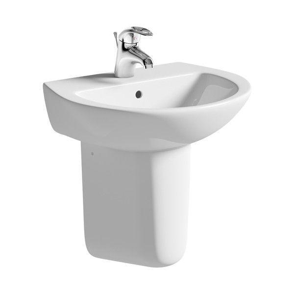 Moods Naples 1 Tap Hole Basin with Semi Pedestal 500mm