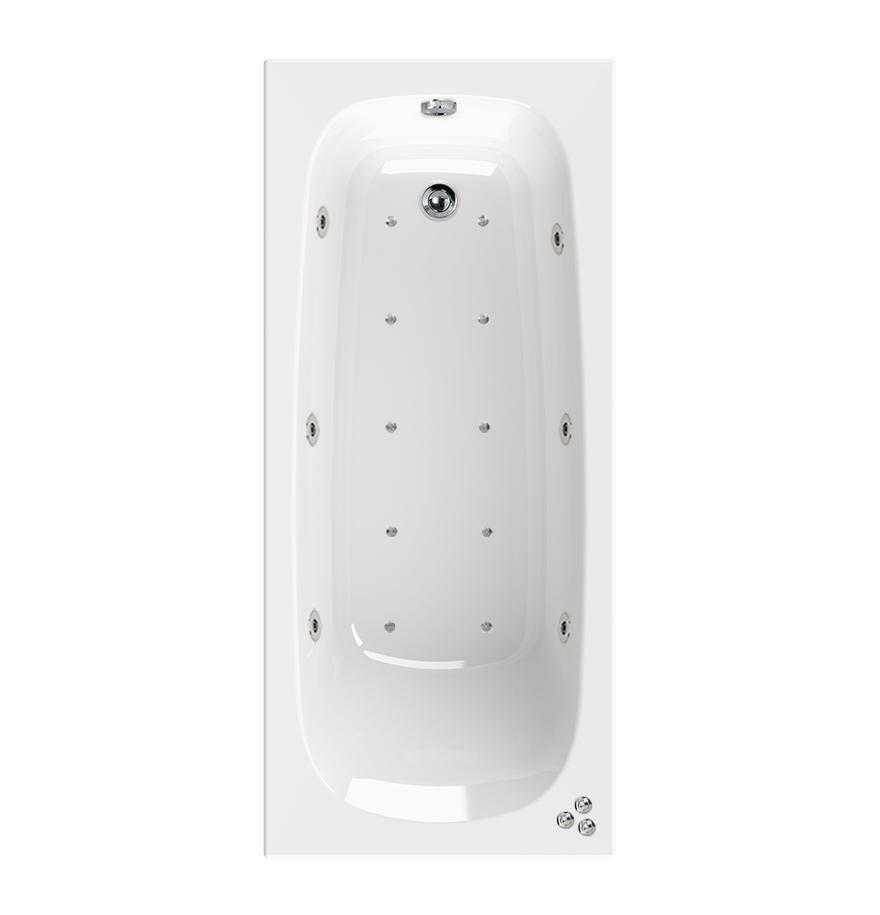 Aquaestil Mercury 16 Jet Whirlpool Bath with Chromotherapy