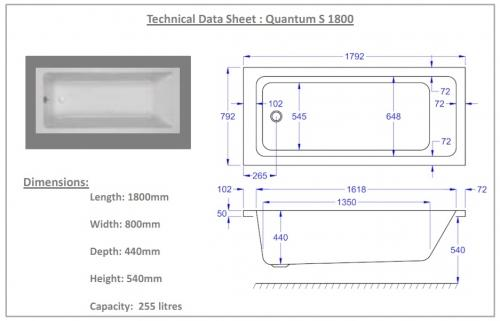 1800mm quantum technical drawing