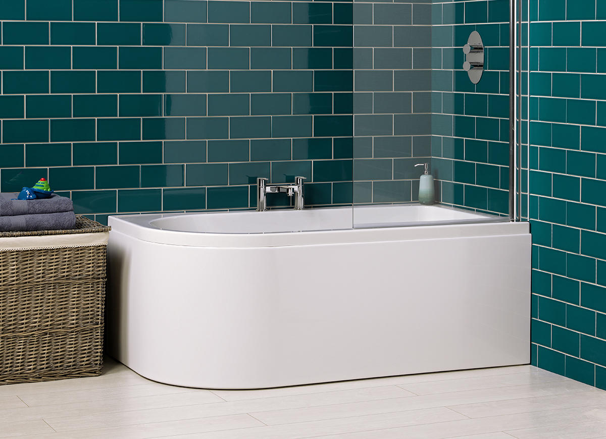 carron status lh 1600 x 725 mm offset whirlpool corner bath type 1 status shower screen