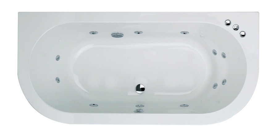 Trojan Decadence 12 Jet Double Ended Whirlpool Spa Bath
