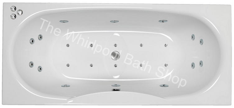 Carron Equation 1800 mm 24 Jet Whirlpool Bath