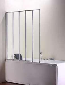 Volente 5 Panel Folding Bath Shower Screen