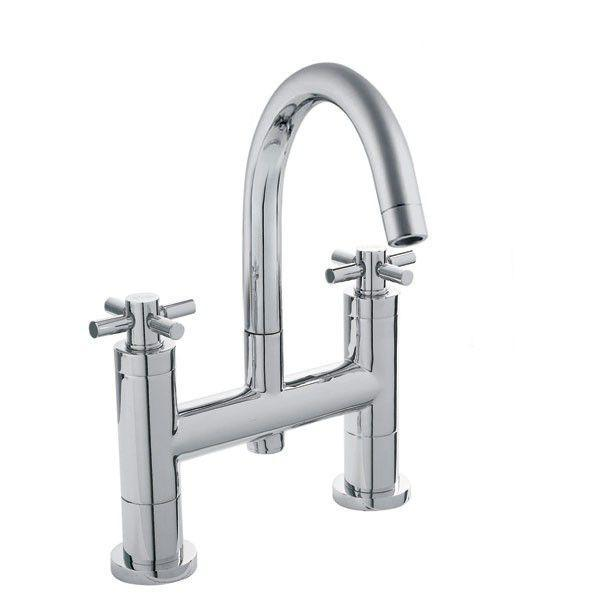 Technical Drawing Hudson Reed Tec Lever Small Spout Bath Filler