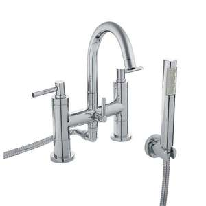 Hudson Reed Tec Lever Bath Shower Mixer Small Spout TEL354