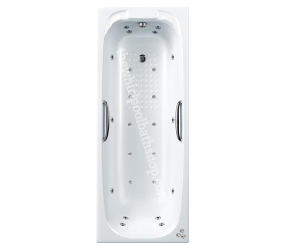 Carron Swallow 1700 x 700 24 jetWhirlpool Bath with Grips