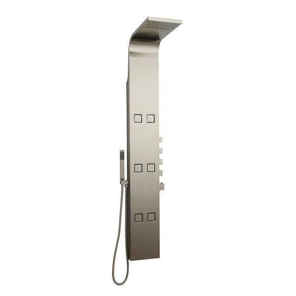 Hudson Reed Astral Stainless Steel Thermostatic Shower Tower AS3