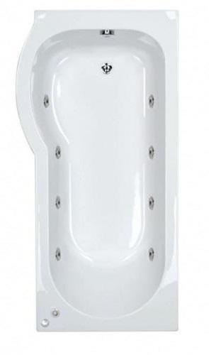 8 jet Trojan Concert 1675 mm Left Hand P Shaped Whirlpool Shower Bath