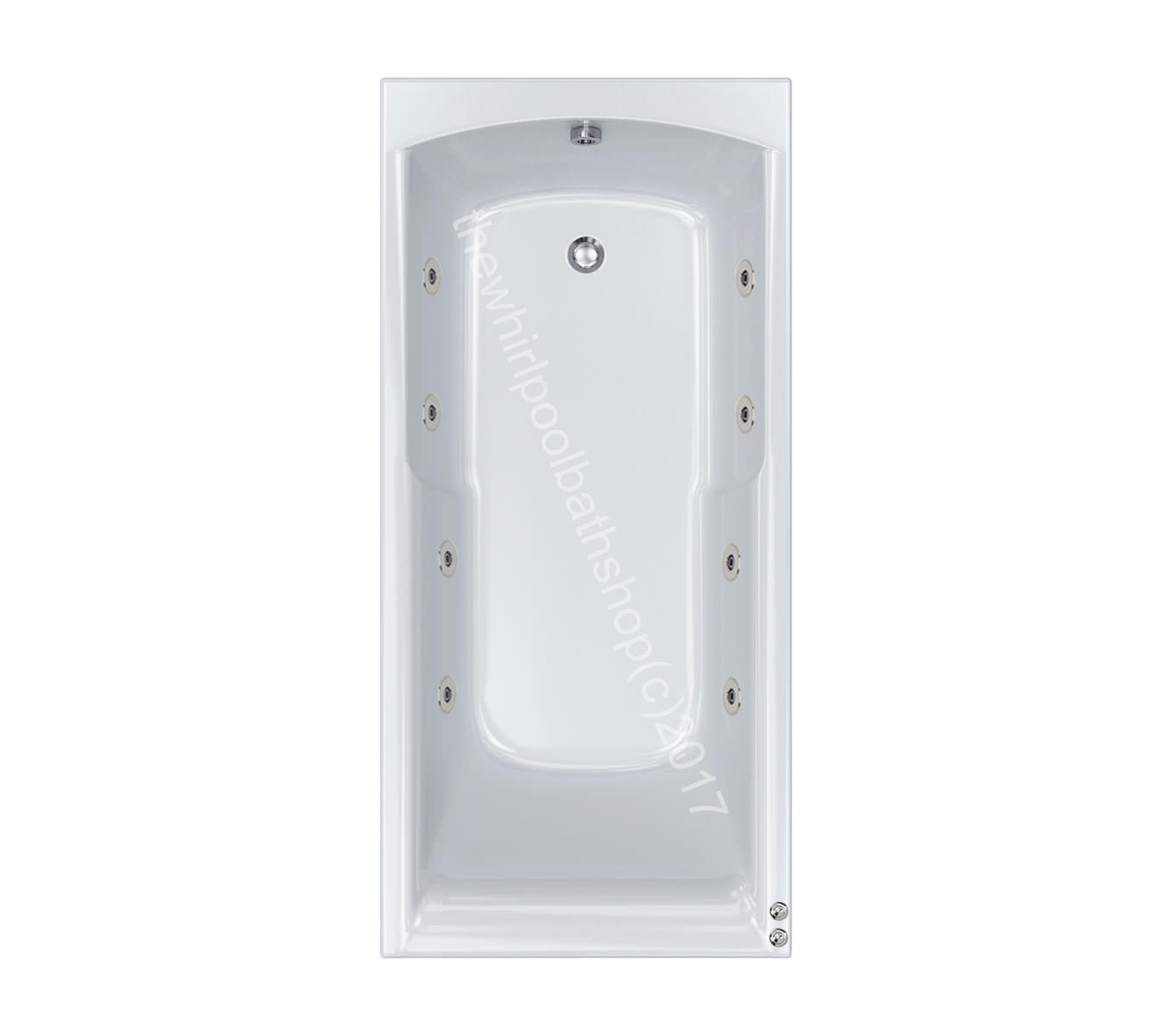8 jet Carron Apex 1700 x 800 Whirlpool Bath