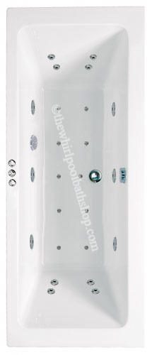 1700 mm Phoenix Rectangularo DE Whirlpool Bath