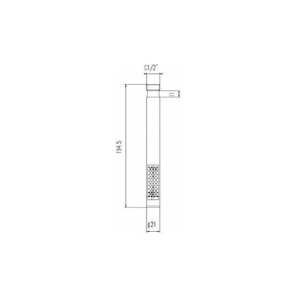 Technical Drawing Ultra Modern Pencil Handset in Chrome PK330