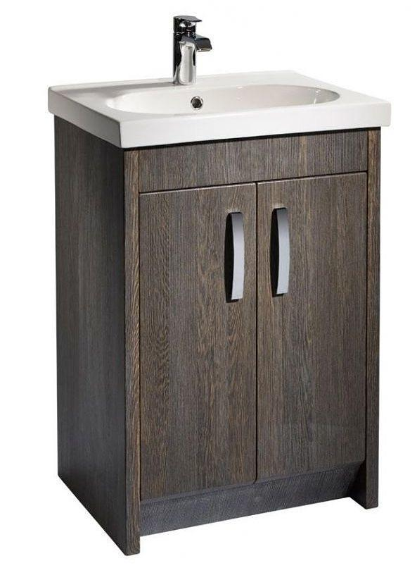 Tavistock Impact 600mm Java Finish Floorstanding Vanity Unit & B