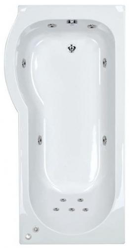 11 jet Trojan Concert 1675 mm Left Hand P Shaped Whirlpool Shower Bath