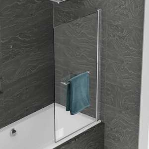 6mm WBS Standard Single Panel Bath Screen
