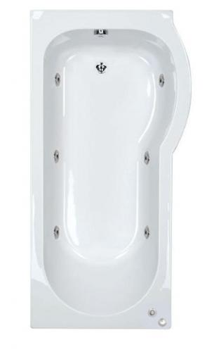 RH Concept 1500mm 6 Jet P Shaped Shower Bath