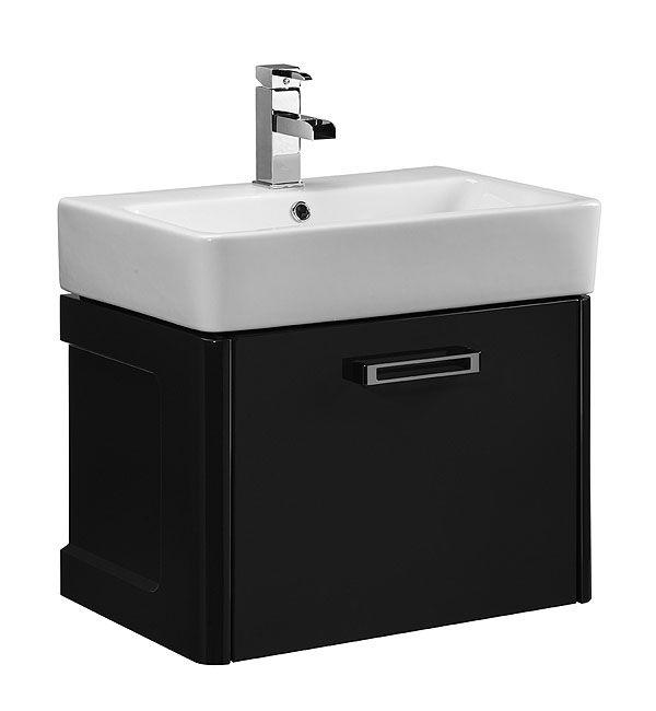 Tavistock Q60 560mm Graphite Wall Mounted Vanity Unit & Ceramic