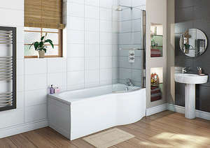 Trojan Concept P Shape Whirlpool Shower Bath