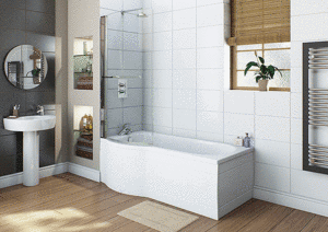 LH Concept 23 Jet P Shape Bath | Free Light