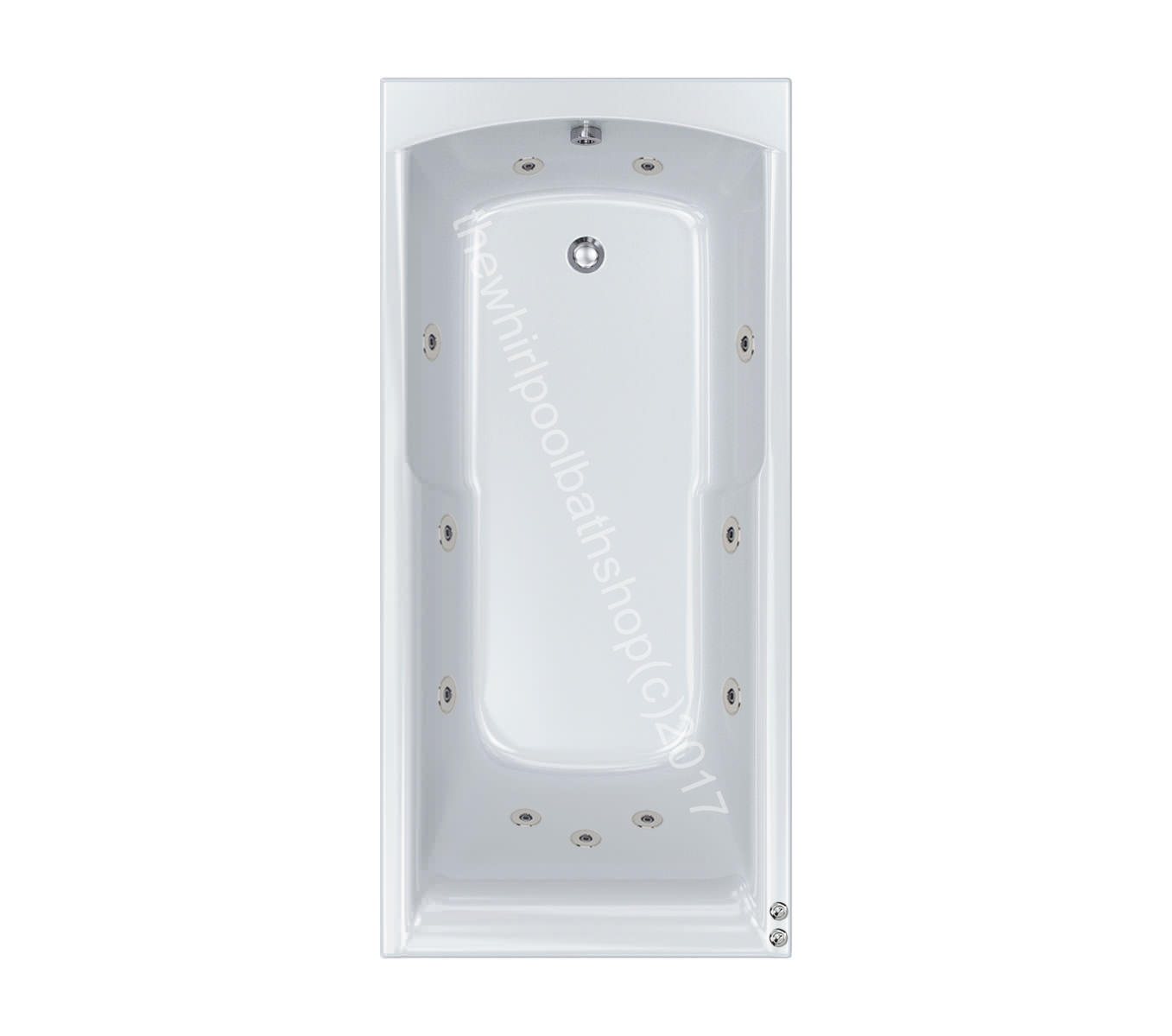 11 jet Carron Apex 1700 x 800 Whirlpool Bath