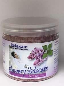 Delicate Lilac Dead Sea Bath Salts for Whirlpool & Jacuzzi Baths