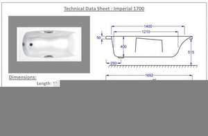 1700 x 700 Imperial Technical Drawing