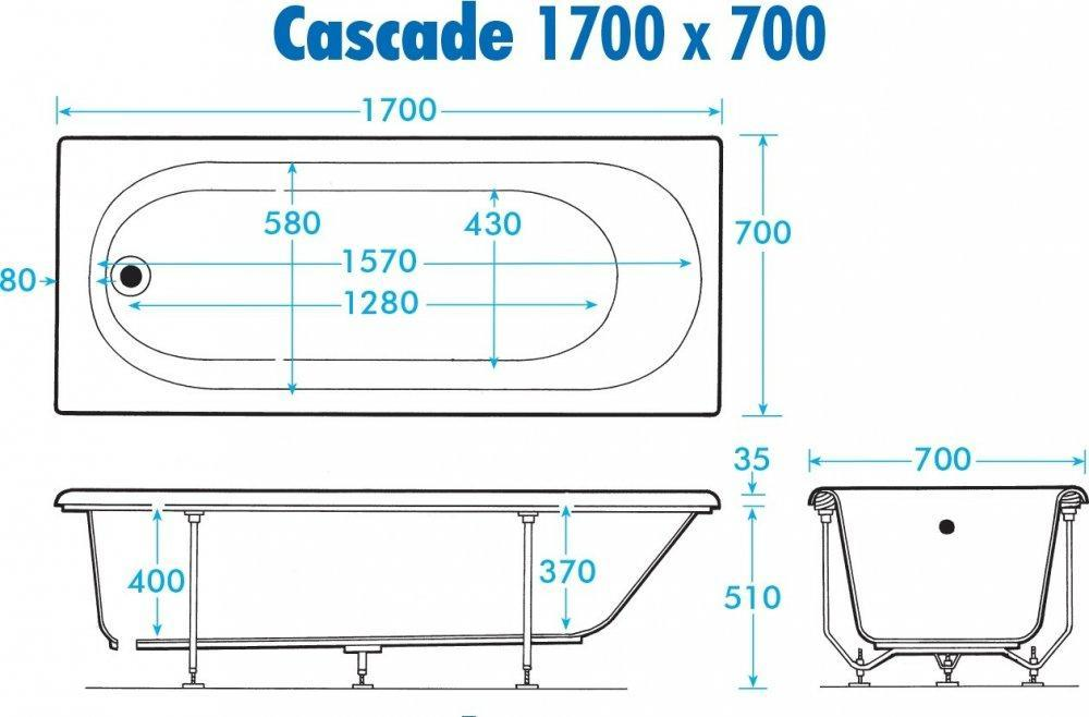 Trojan Cascade 700mm Technical Drawing
