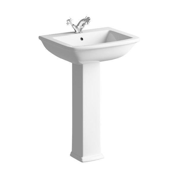 Moods Melissa 1 Tap Hole Basin with Full Pedestal
