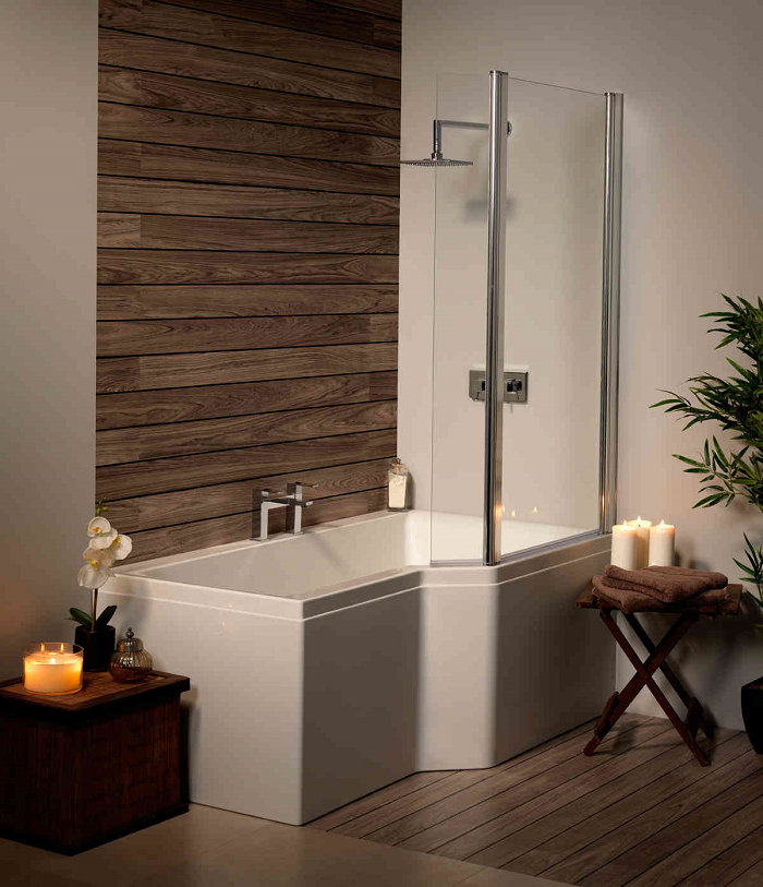 Urban Edge RH Whirlpool Shower Bath