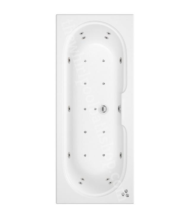 24 jet Trojan Miranda 1700 x 750 mm Double Ended Whirlpool Bath