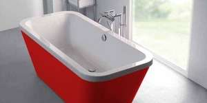 Carron Halcyon Square Red Freestanding Bath 23.3225