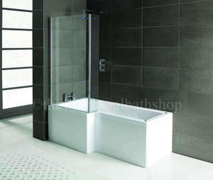 LH Oceania 12 Jet L Shape Whirlpool Shower Bath