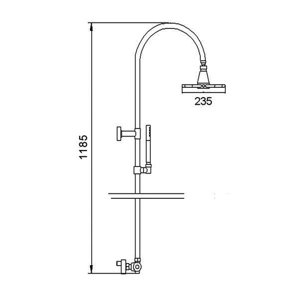 Technical Drawing Hudson Reed Infinity Rigid Riser Kit A363