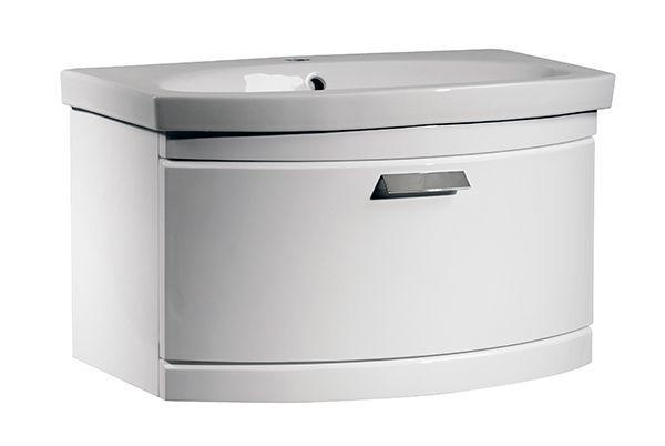 Tavistock Tempo 650mm White Gloss Wall Mounted Vanity Unit & Bas