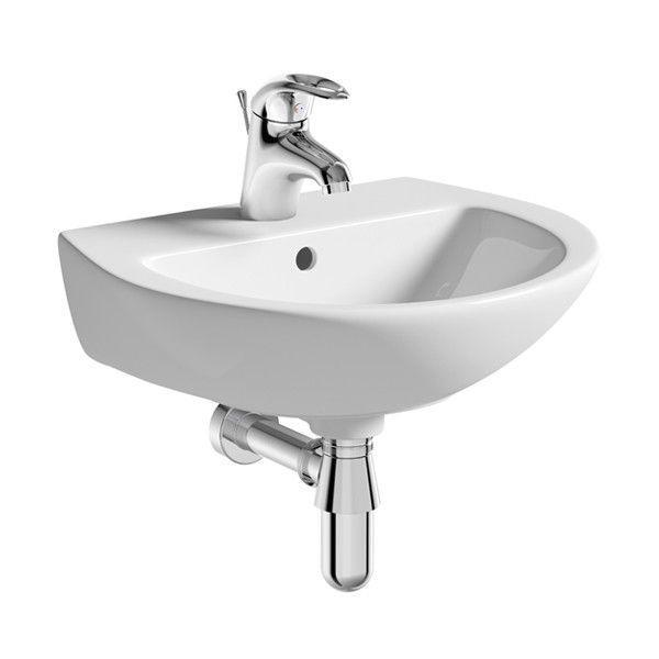 Moods Naples 2 Tap Hole Cloakroom Basin & Bottle Trap 450mm