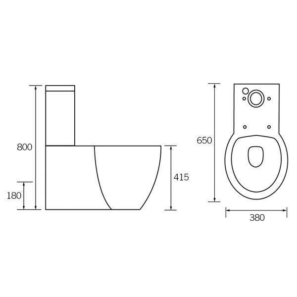 Moods Tarragon Close Coupled Toilet Technical