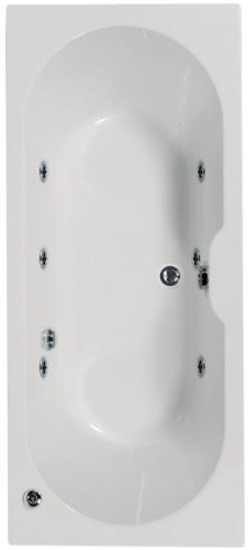 Artesan Gem - 1700 x 750 5mm 6 Jet Whirlpool Bath
