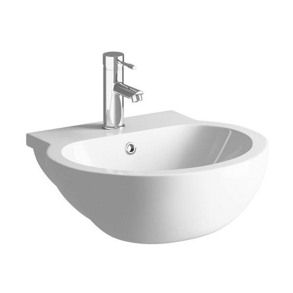 Moods Mimosa 1 Tap Hole Semi Recessed Basin 540mm