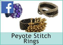 Peyote Stitch Rings - 14th January