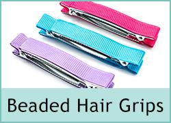 10th March - Beaded Hair Grips
