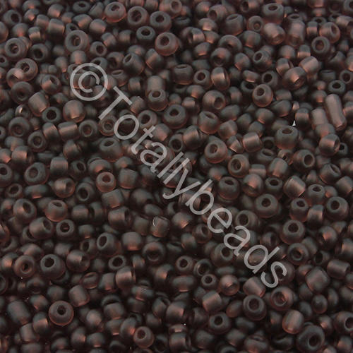Seed Beads Transparent Frosted  Purple - Size 11