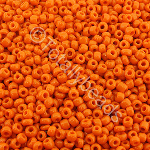 Seed Beads Opaque  Orange - Size 11
