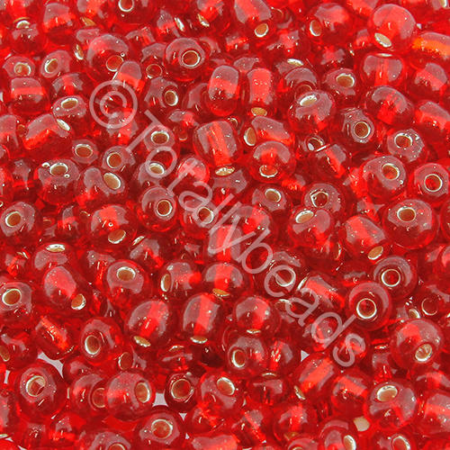 Seed Beads Silver Lined  Red - Size 6