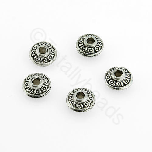 Tibetan Silver Bead - Cone Barrel 7mm