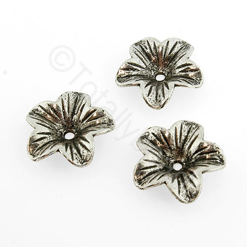 Tibetan Silver Bead - 18mm Flower